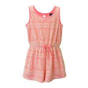 Lilt Sleeveless Crochet Romper - Preschool Girls 4-6x