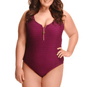 Paramour Solid One Piece Swimsuit Plus