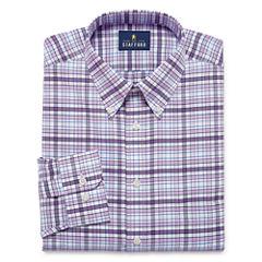 Stafford Travel Wrinkle-Free Oxford- Big & Tall Long Sleeve Dress Shirt