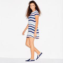 Arizona Short Sleeve Swing Dresses-Juniors