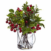 Berry Boxwood Floral Arrangement