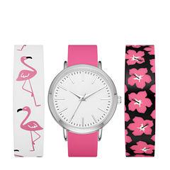Mixit Womens Multicolor Strap Watch-Fmdjps092