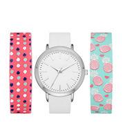 Mixit Womens Multicolor Strap Watch-Fmdjps098