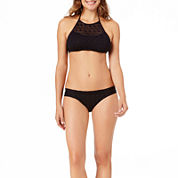 a.n.a® Mix & Match Crochet High-Neck Swim Top or Crochet Side-Tie Hipster Swim Bottoms