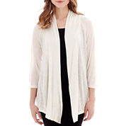 Alyx® 3/4-Sleeve Open-Front Cardigan Sweater Cozy