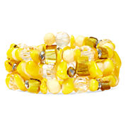 Mixit™ Yellow Shell Silver-Tone Multi-Strand Stretch Bracelet