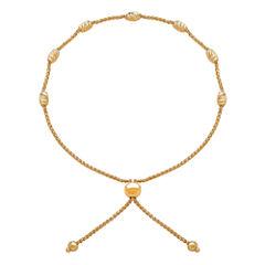Womens 14K Gold Bolo Bracelet