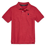 U.S. Polo Assn. Short Sleeve Solid Pique Polo Shirt - Big Kid Boys