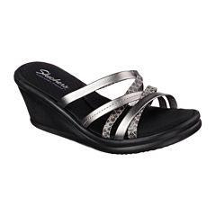 Skechers® Social Butterfly Womens Wedge Sandals