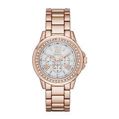 Geneva Rose-Tone Metal Watch