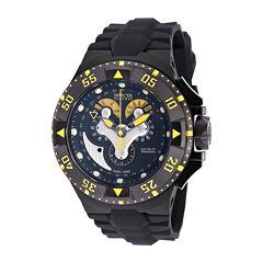 Invicta® Mens Black Silicone Strap Watch