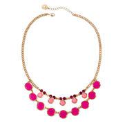 Liz Claiborne® Pink Gold-Tone Collar Necklace