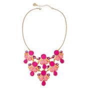 Liz Claiborne® Pink Gold-Tone Statement Necklace