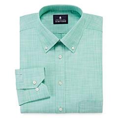 Stafford® Long-Sleeve Broadcloth Linen Look Dress Shirt - Big & Tall
