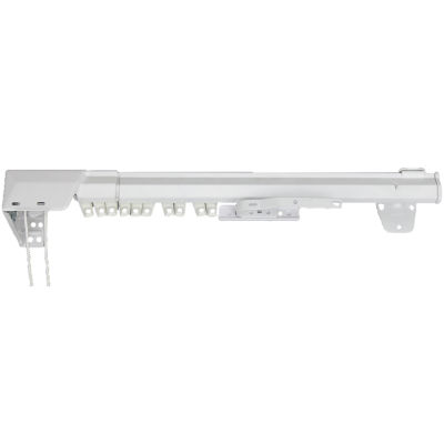 rod desyne oneway cord traverse adjustable curtain rod left
