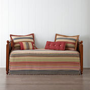 Retro Chic Cotton Striped Daybed Cover