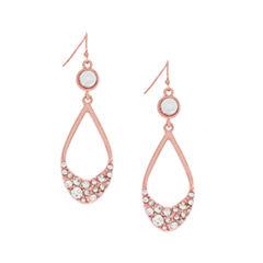 nicole by Nicole Miller® Crystal Rose-Tone Double Drop Earrings