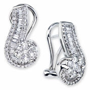 diamond blossom 1 CT. T.W. Diamond 10K White Gold Swirl Earrings
