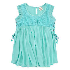 Arizona Knit Gauze Lace-Up Tank Top - Girls' 7-16 and Plus