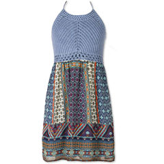 Speechless Crochet Halter w/Print Skirt - Girls' 7-16