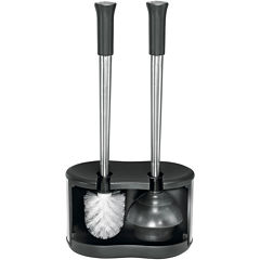 Polder® Dual Toilet Brush & Plunger Caddy