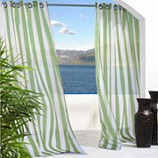 Escape Stripe Grommet-Top Outdoor Curtain Panel