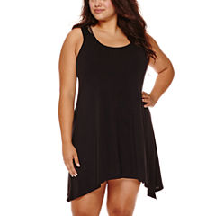 a.n.a Solid Jersey Swimsuit Cover-Up Dress-Plus