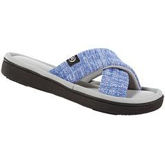 Isotoner Space Dye Cross Slide Slippers