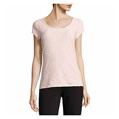 Tall size career shirts tops for women jcpenney for Liz claiborne v neck t shirts