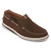 St. John's Bay® Sandbar Men's Leather Slip-On Shoes