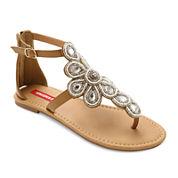 UNIONBAY® Daisy Embellished Flat Sandals