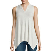 Stylus™ V-Neck Asymmetric-Hem Tank Top