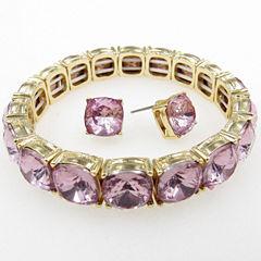 Vieste Rosa Womens 2-pc. Pink Brass Jewelry Set