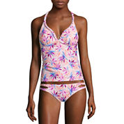 Arizona Floral Tankini Swimsuit Top or Hipster Bottom-Juniors