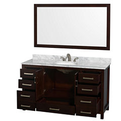 Wyndham Collection Sheffield 60 inch Single Bathroom Vanity