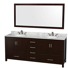 Wyndham Collection Sheffield 80 inch Double Bathroom Vanity