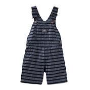 OshKosh B'gosh® Stripe Cotton Shortalls - Baby Boys 6m-24m