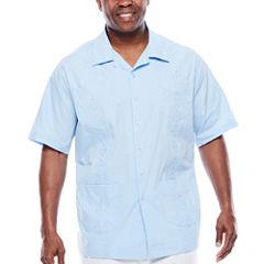 Havanera™ Guayabera Short-Sleeve Button-Front Camp Shirt - Big & Tall