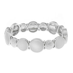 Gloria Vanderbilt Womens White Stretch Bracelet