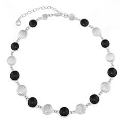 Gloria Vanderbilt Womens Black Collar Necklace