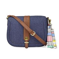 Liz Claiborne Jenny Flap Saddle Shoulder Bag