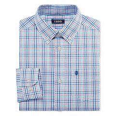 IZOD Long Sleeve Woven Dress Shirt - Big Kid Boys