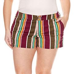Arizona Stripe Shorts-Juniors Plus