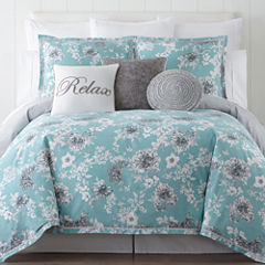 JCPenney Home Pencil Floral 4-pc. Comforter set