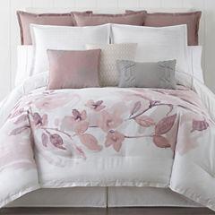 Liz Claiborne Blush Floral 4-pc. Floral Comforter Set