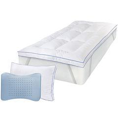 SensorPEDIC® MemoryLOFT® Deluxe Mattress Topper with Gel plus BONUS Pillow