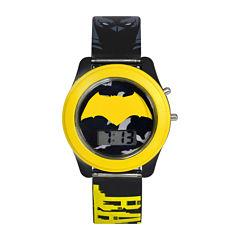DC Comics® Batman vs. Superman LCD Flash Dial with Printed Yellow Batman Watch