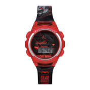 DC Comics® Red & Black Batman Strap Watch