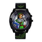 Nintendo® Legend Of Zelda Graphic Black Strap LED Boys Watch