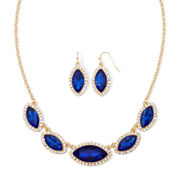 Monet® Blue Gold-Tone Collar Necklace & Earring Set